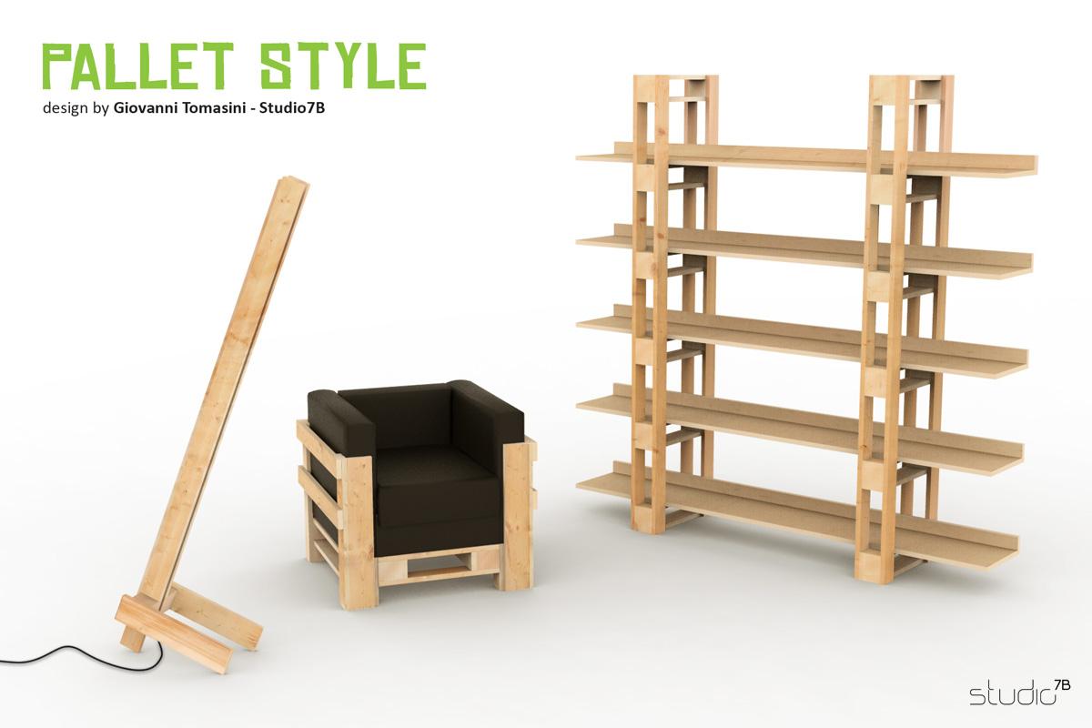 Pallet style la nuova collezione di mobili in stile pallet by studio7b - Mobili con pallet ...