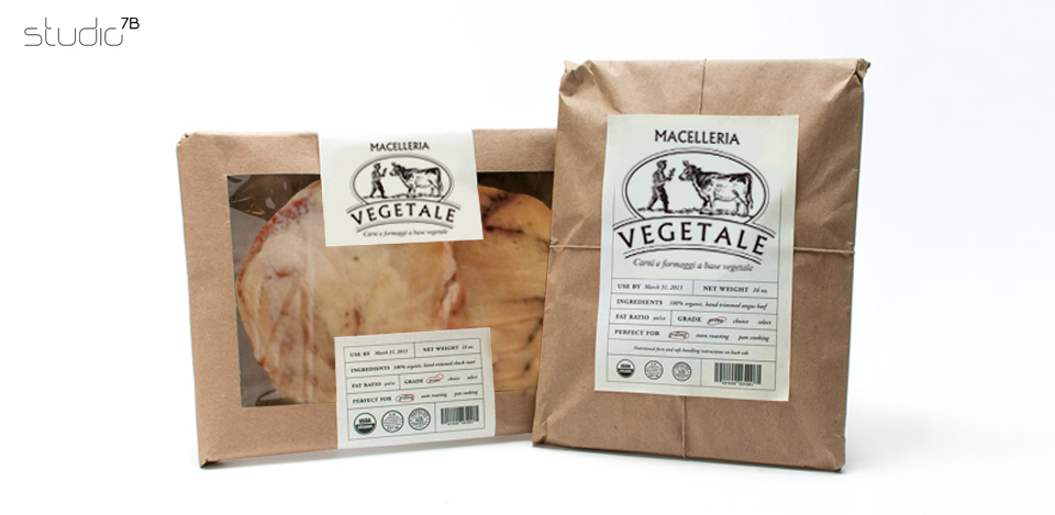 MACELLERIA VEGETALE logo e packaging