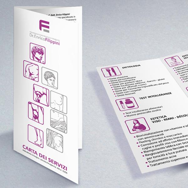 Poliambulatorio Filippini - grafica flyer