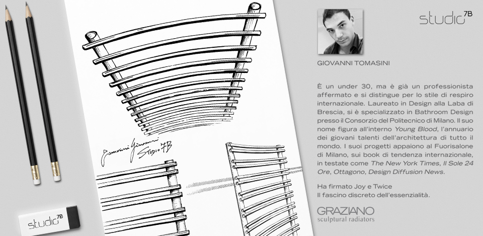 Giovanni Tomasini for GRAZIANO RADIATORS