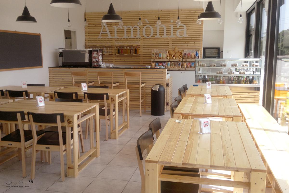 Studio7b ha studiato l 39 interior design del bio store caf arm nia - Interior design brescia ...
